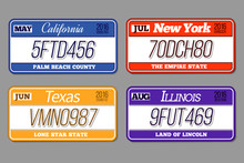 License Car Number Plates Vect...
