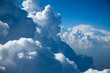 Leinwandbild Motiv Aerial view of  Sky and close-up Clouds