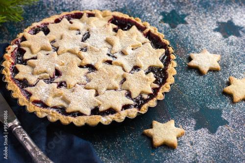 tart with berries jam and cookies Wallpaper Mural