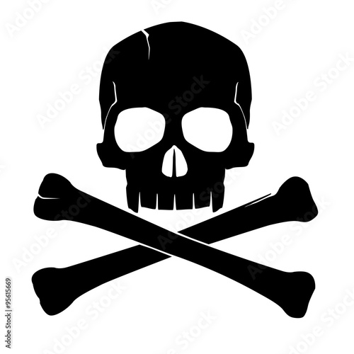 Photo  skull and crossbones