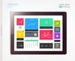 Tablet with interface template.