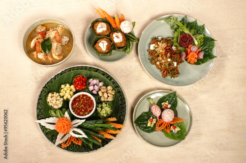 healthy thai food set and snack luxury serve and decoration – kaufen ...
