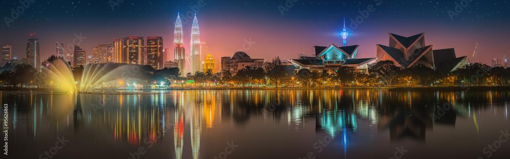 Fototapeta Kuala Lumpur night Scenery, The Palace of Culture