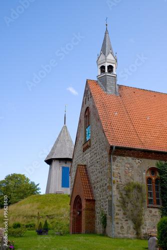 Spoed Foto op Canvas Noordzee St.-Jakobi-Kirche - Schwabstedt - Nordsee