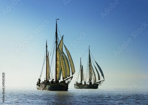 Canvas Prints Ship Two traditional sailing boats