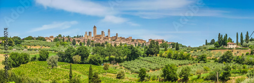 Poster Toscane Medieval town of San Gimignano, Tuscany, Italy