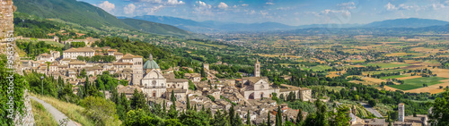 Foto op Plexiglas Groene Ancient town of Assisi, Umbria, Italy