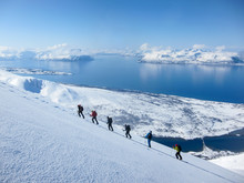 Randonee Skiing In Norway