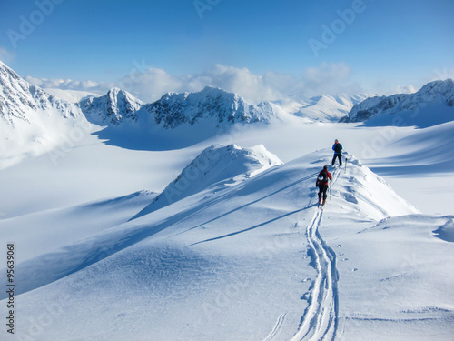 On the winter mountain ridge