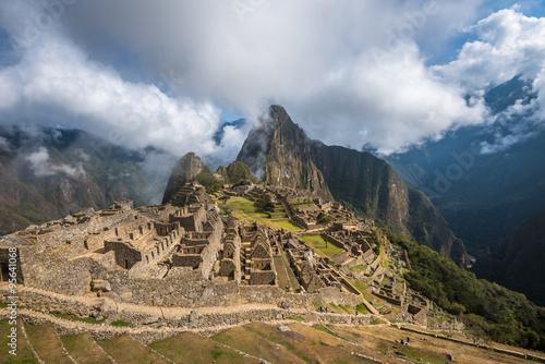 Spoed Foto op Canvas Zuid-Amerika land Machu Picchu, UNESCO World Heritage Site. One of the New Seven W