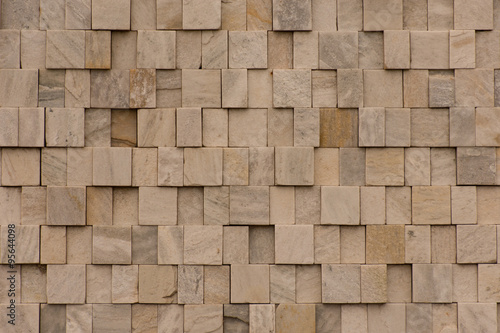 Photo sur Toile Cailloux Fundo - Parede de pedra