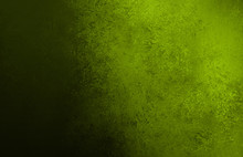 Olive Green Background With Black Shadow On Border And Vintage Grunge Background Texture