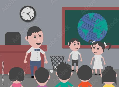 Fotografía  children studying geography