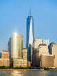 The skyline of Lower Manhattan in New York