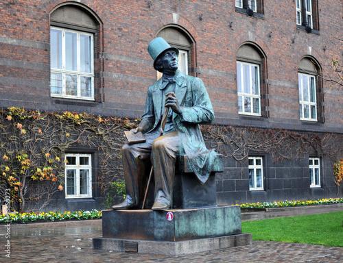 Hans Christian Andersen statue in Copenhagen Poster