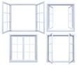 Leinwandbild Motiv Collection of isolated window frames