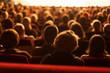 Leinwanddruck Bild - audience watching theater play