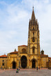 Oviedo Cathedral in day time. Asturias
