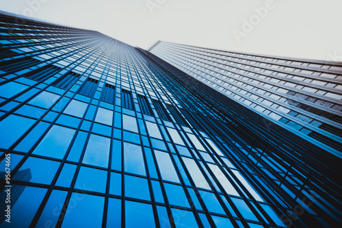 Cadres-photo bureau Batiment Urbain office buildings. Modern glass silhouettes on modern building
