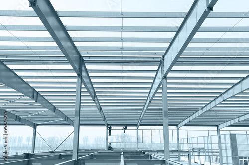 Fotografie, Obraz  The steel structure