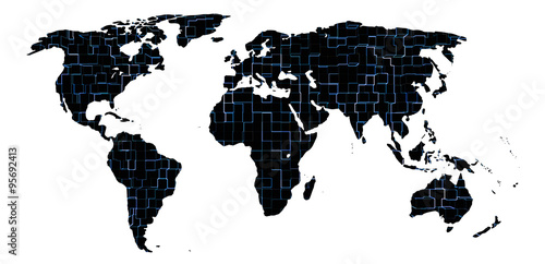 Keuken foto achterwand Wereldkaart World map with abstract texture