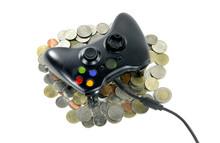 Game Controller On A Thai Money Coins