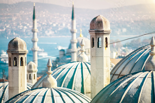 The beautiful Süleymaniye mosque in Istanbul, Turkey Canvas Print
