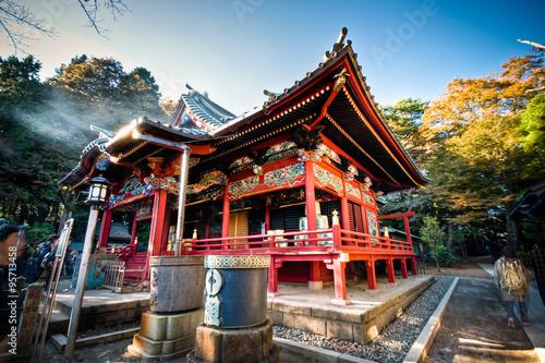 Obraz na płótnie Beautiful traditional shrine at Tokyo, Japan