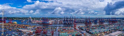 Fotografía  Panorama Luftbild Hafen Hamburg