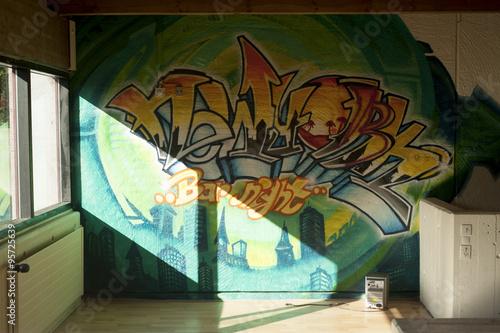 Plakat dekoracja graffiti