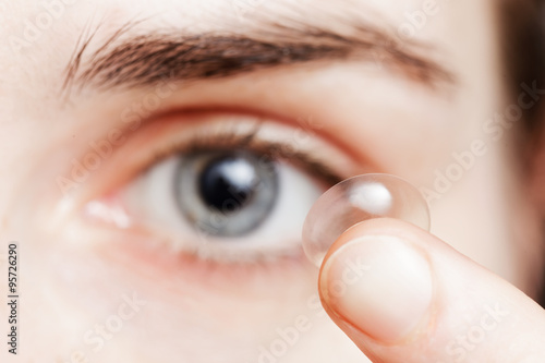 Obraz Contact lenses - a convenient way for solving problems with visi - fototapety do salonu