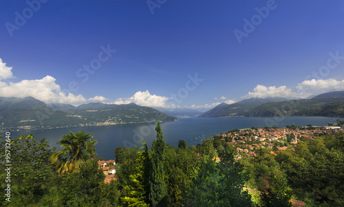Fotografie, Obraz  Lake Maggiore at Luino, facing Switzerland__Lake Maggiore_Italy