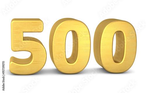 Fotografering  zahl cipher 500 gold vertikal