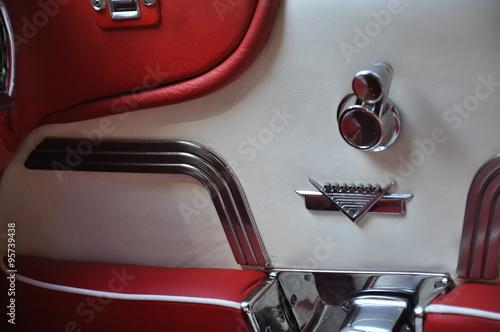 Fotografie, Obraz  Cadillac. Tür. Innen.