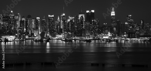 Poster New York capture new york cityscape skyline, usa