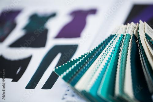 Fotografie, Obraz  Farbmuster, Modedesign