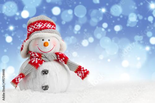 Fotografie, Obraz  Happy snowman