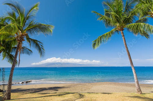 Deurstickers Strand Tropical beach paradise