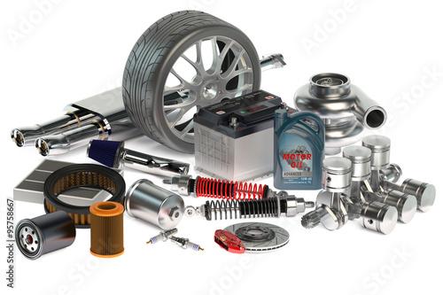 Fotografía  set of Car parts
