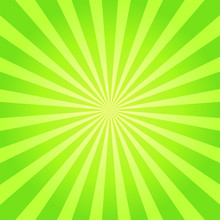 Green Sunburst Texture. Abstract Background. Vector Illustration.