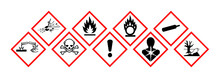 Pictogrammes Danger GHS.