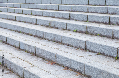 Foto op Plexiglas Trappen Outdoor concrete stone stair in front of building