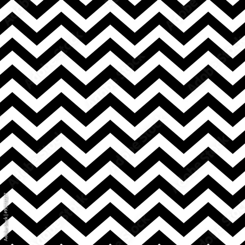 Photo Chevron seamless pattern. Black and white