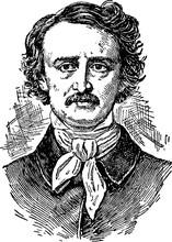 Vintage Portrait Edgar Allan Poe