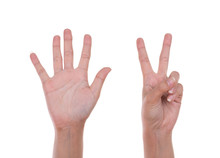 Hands Show The Number Seven