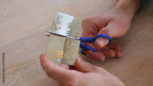 Photo cut credit card