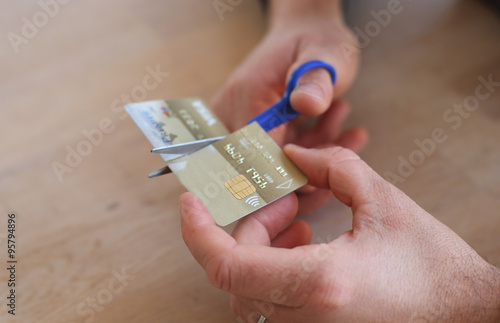 cut credit card Canvas Print