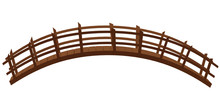 Wooden Bridge Isolated On The White