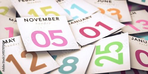 Fotografía  Day of the Week, Calendar