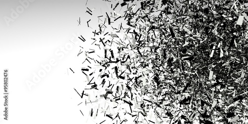 Valokuva  Abstract 3d explosion